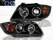 06-08 BMW 3-SERIES E90/E91 4 DR/WAGON PROJECTOR HEADLIGHTS CCFL HALO W/ LED BAR