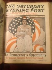 1903 Saturday Evening Post Bound BOOK From Nov- April with original illustration