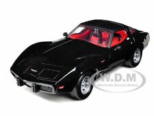 1979 CHEVROLET CORVETTE BLACK 1:24 DIECAST MODEL CAR BY MOTORMAX 73244