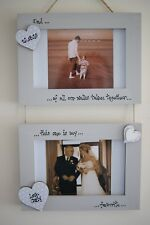 Personalised Photo Frame by Filly Folly! Father of the Bride Gift! 2 frames!