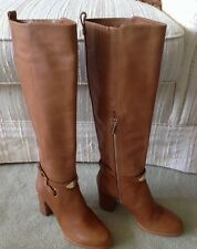 Brown Leather Boots by Michael Kors Size 6 1/2 M