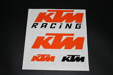 KTM Aufkleber Sticker Decal Bapperl Kleber Autocollant Racing Motocross EXC Set1