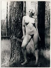 Nudism BLOND NUDE IN THE WOODS / BLONDINE NACKT IM WALD FKK * Vintage 60s Photo