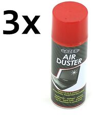 3x 200ml Compressed Air Duster Cleaner Can Canned Laptop Keyboard New