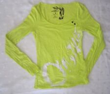 O'NEILL LONG SLEEVES EMBELLISHED LOGO SHIRT- BRIGHT YELLOW - SIZE S - NWOT