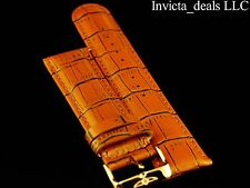 Invicta Lupah Genuine Leather 24mm Turmeric Replacement Strap AUTHENTIC