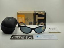 COSTA DEL MAR POLARIZED SUNGLASSES FATHOM FA11 OGP BLACK FRAME/GRAY 580P LENS