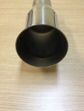 """3 1/2"""" X 4""""  DIA DTM ROUND STAINLESS STEEL EXHAUST PIPE TIP MT- 5111"""
