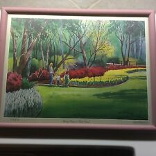 Donald F. Mitchell Spring Comes To Turtle Creek Signed Numbered SWS Dallas Texas