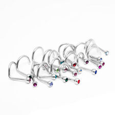 Lot of 10pc 18G Nose Ring Screw Stud 316l surgical steel body jewelry