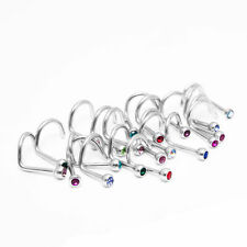 Wholesale lot of 10pc 18G Nose Ring Screw Stud 316l surgical steel body jewelry