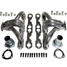 FOR CHEVY SBC SMALL BLOCK HUGGER SHORTY CERAMIC COATED HEADER MANIFOLD/EXHAUST