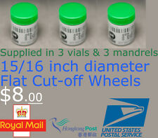 "3 Vials Flat Cutting Cut-Off Wheels 15/16"" Dia. Rotary Dremel Proxxon 409 HC-205"