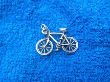 FINISH LINE 1 Racing 3D BICYCLE Pewter Tibetan Charms or Pendant ALL NEW.