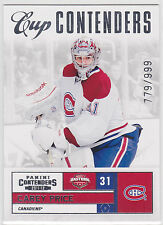 2011 11-12 Panini Contenders #115 Carey Price Cup Contenders 779/999