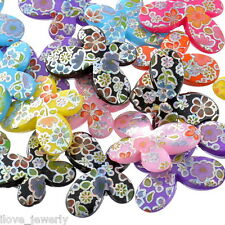 20PCs ILJ Acrylic Spacer Beads AB Color Flower Pattern Butterfly Mixed