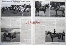 """""""THE RICHMOND HORSE SHOW"""" - 1966 Magazine Article (2-Sided Cutting)"""
