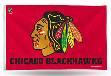 "Chicago Blackhawks NHL Banner Flag 3' x 5' (36"" x 60"") ~ NEW"