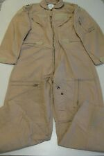 US Military Coveralls Flight Suit Tan Aramid Type 1 Class 2 CWU-27/P Flyers 42 R