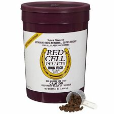 Red Cell Pellets Iron Rich Vitamin Mineral Horse Supplement Yucca Flavor 4 pound