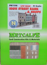 New Metcalfe PN106 N Scale Low Relief Bank & Shops