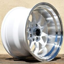 JNC 003 15x8 4x100/114.3 ET0 White Wheels Rims Fit HONDA CIVIC SI DX 1989-2000