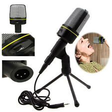 Professional Sound Podcast Webcast Audio/Video Studio Microphone w/ Mount Stand