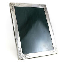 Watrous Mfg Co Sterling Silver Photo Frame 8.5 x 11.5 hand engraved floral c1920