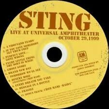 STING: Live At Universal Amphitheater ( VERY RARE PROMO DISC) New