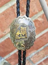 Beautiful Vintage Sterling Silver Native American Bolo Tie