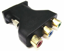 From OZ Quality 1PC 15 Pin VGA Male To 3 RCA Female TV Monitor Adaptor +FREEPOST