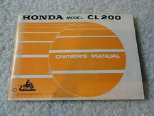 1973 1974 Honda CL200 CL 200 Owners Manual