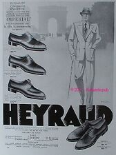 PUBLICITE CHAUSSURES HEYRAUD MODELE MONACO CHAMONIX HOMME 1933 FRENCH SHOES AD