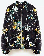 ZARA Oriental Quilted Floral Jacket Size Extra Extra Large XXL