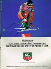 Publicité advertising 1992 Montres Tag Heuer sponsor officiel ski Alpin