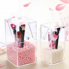 Clear Acrylic Dustproof Makeup Holder Case Brush Cosmetic Organizer Storage Box