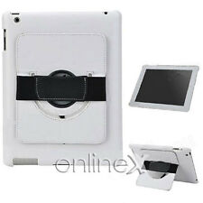 Funda Piel para iPad 3, Soporte Rotatorio Color BLANCO a756