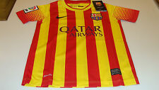 FC Barcelona 2013-14 Soccer Away Jersey Short Sleeves S League Boys Kids