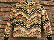 vtg 50s crazy PSYCHEDELIC carpet rockabilly jacket tapestry SMALL XS ricky hippy