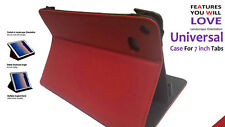 Universal Flip Foldable Stand Case for Amazon Kindle Five HD X 7inch Red