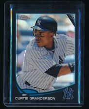 CURTIS GRANDERSON 2013 TOPPS CHROME BLACK REFRACTOR 001/100 NEW YORK YANKEES