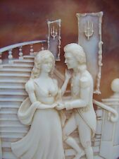 """LORD AND LADY"" ""ROMANCES"" 1982 BROWN INCOLAY CAMEO COLLECTOR PLATE COA L@@K"