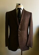 NEW $5900 Cesare Attolini Silk DOUBLE STITCHED 38R/48R Chocolate Sport Coat