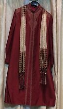 "36"" Small Sherwani Suit Indian Bollywood Mens Or Boys Traditional Kurtha Maroon"