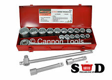 "21 PC 3/4"" DRIVE SOCKET METRIC EXTENSION SLIDING T BAR RATCHET WRENCH SET CT1376"