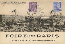 CARTE POSTALE - SALONS DE LA PHILATELIE PARIS 1942 FOIRE DE PARIS UNIVERSELLE