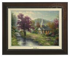 Thomas Kinkade - Streams of Living Water –Canvas Classic(Espresso Frame)
