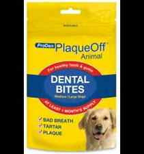 6 x 150g ProDen PlaqueOff™ Dental Bites for Dogs 150g Plaque Tartar Bad Breath