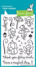 Lawn Fawn Clear Cling Stamp Set of 21  ~  FAIRY FRIENDS  ~ LF1057