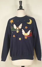Hanes her Way Angles & Stars Pull Over Sweater Blue Women's Size Large